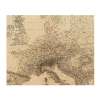 Mountains of Europe Wood Wall Art
