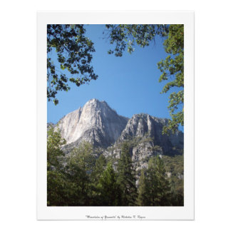 """Mountains of Yosemite"" Professional Photo Print"