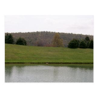 Mountains Pond Postcard