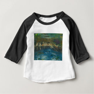 Mountains reflected in winter lake baby T-Shirt