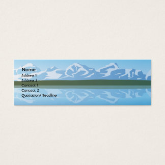 Mountains - Skinny Mini Business Card