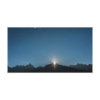 Mountains | Sky | Moon Canvas Print