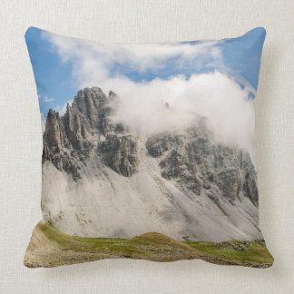 Mountains Snow Image Cotton Throw Pillow