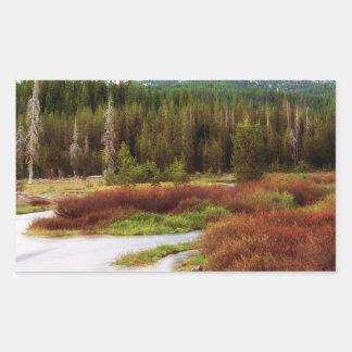 Mountains Snow Southwestern Frozen Winter Fall Rectangular Sticker