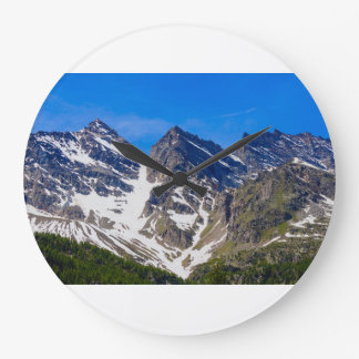 mountains  three levanne  wall clock