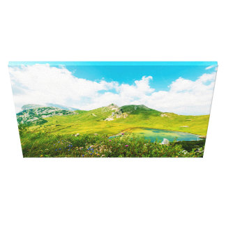 Mountains Under Blue Sky and White Clouds Canvas Print