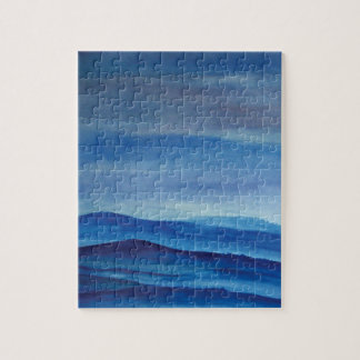 Mountains Watercolor  Photo Puzzle with Gift Box