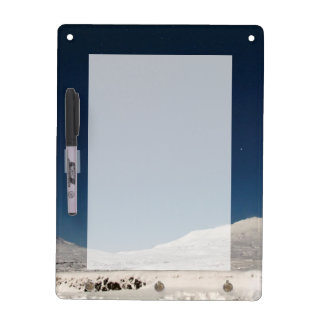 Mountains with Snow in Iceland Dry Erase Board