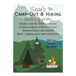 Mountainscape Camping Personalized Announcement