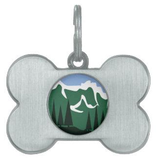 Mountainside Pet Name Tag