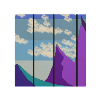 Mountainview Wood Wall Art