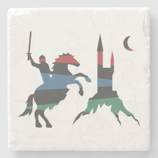 Mounted Champion vs Castle Stone Coaster