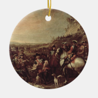 Mounted Dragoons of the King's Household, 1737 (oi Round Ceramic Decoration