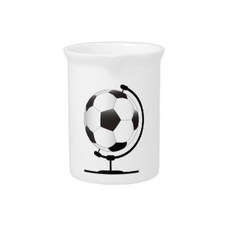 Mounted Football On Rotating Swivel Beverage Pitcher