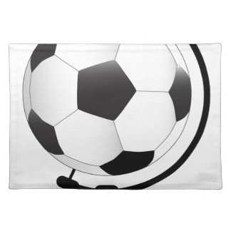 Mounted Football On Rotating Swivel Placemat