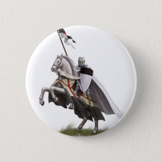 Mounted Knight Templar 6 Cm Round Badge