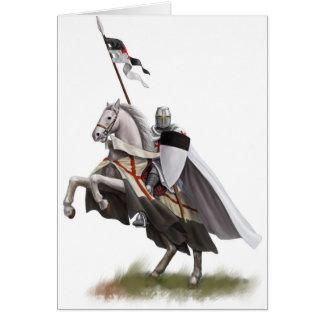 Mounted Knight Templar Greeting Card