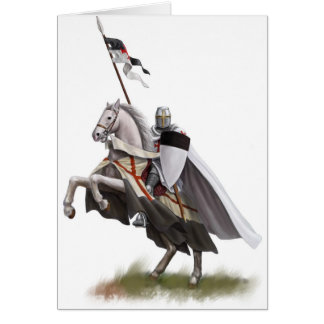 Mounted Knight Templar Greeting Card