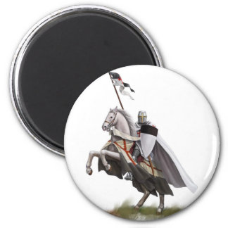 Mounted Knight Templar Magnet
