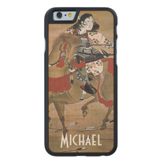 Mounted Samurai Carved Maple iPhone 6 Case