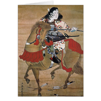 Mounted Samurai Note Card
