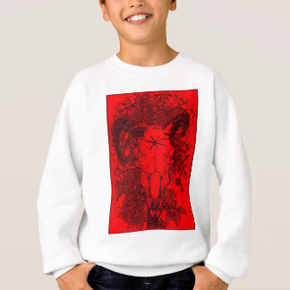 Mounted Stang Pencil Sketch in Red Sweatshirt