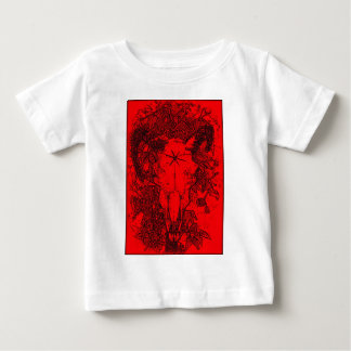 Mounted Stang Pencil Sketch in Red T-shirts