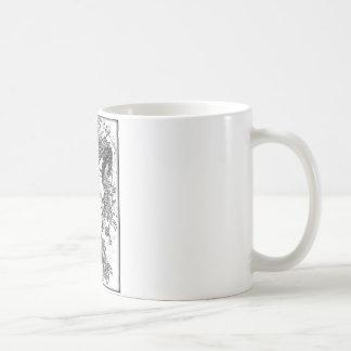 Mounted Stang Pencil Sketch in White Coffee Mug