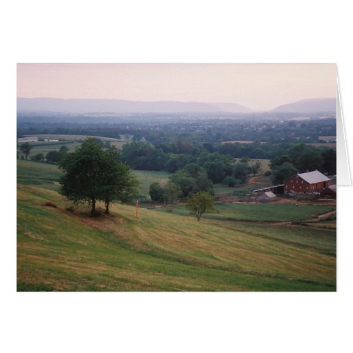 Mountville Pass, Middletown Valley in Maryland Greeting Card
