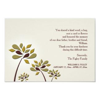 Mournful Sympathy Thank You Card 9 Cm X 13 Cm Invitation Card