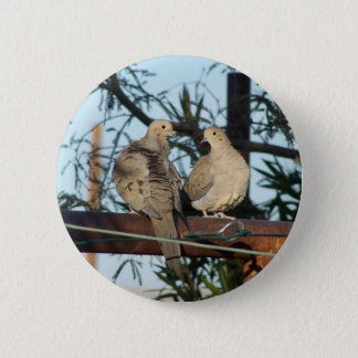 Mourning Dove 6 Cm Round Badge