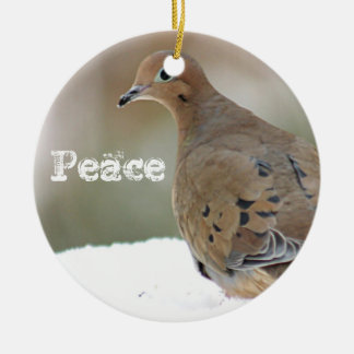Mourning dove christmas ornament