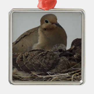 Mourning Dove Family Christmas Ornament