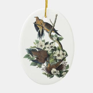 Mourning Dove, John Audubon Christmas Ornament