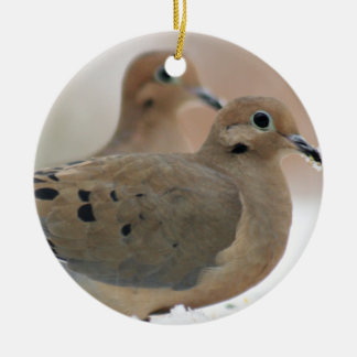 Mourning dove photo christmas ornament