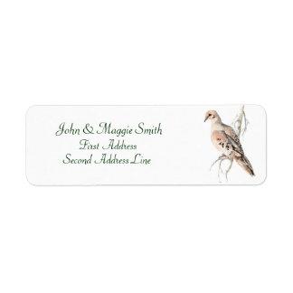 Mourning Dove/ Turtle dove, Bird, Address Label