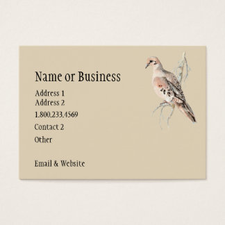 Mourning Dove/ Turtle Dove Card  to Customize