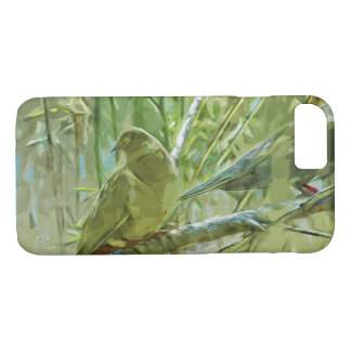 Mourning Doves Abstract Impressionism iPhone 7 Case