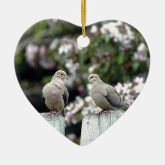 Mourning Doves Christmas Ornament