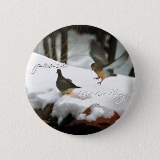 Mourning Doves Photo 6 Cm Round Badge