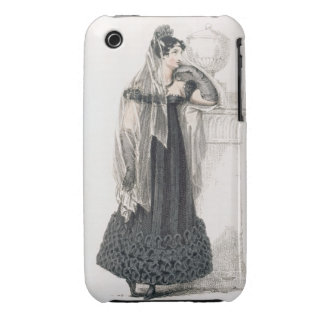 Mourning dress, fashion plate from Ackermann's Rep Case-Mate iPhone 3 Case