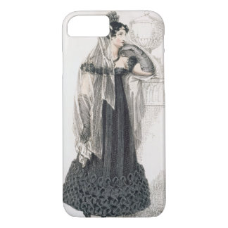 Mourning dress, fashion plate from Ackermann's Rep iPhone 8/7 Case