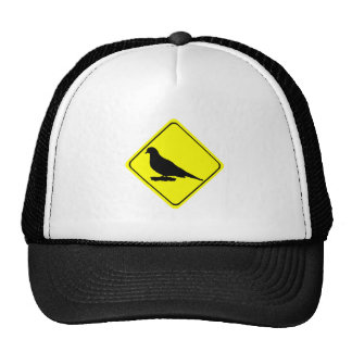 Mourning Love or Turtle Dove Caution Crossing Sign Hat