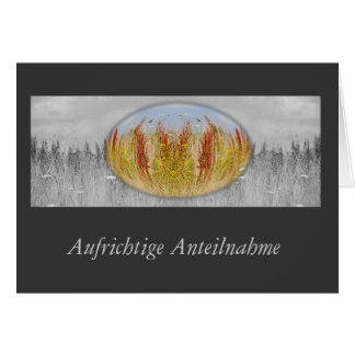 Mourning map autumn meadow grey greeting card