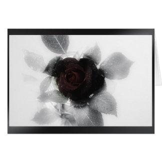 Mourning Memory Rose Greeting Card