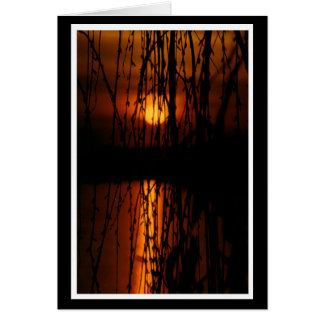 Mourning pasture with sunset 1 map greeting card