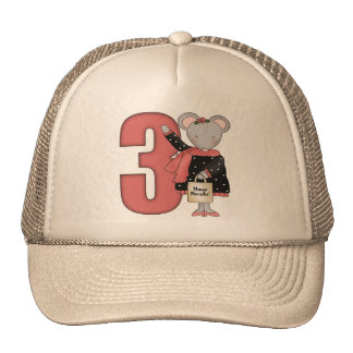 Mouse 3rd Birthday Gifts Cap