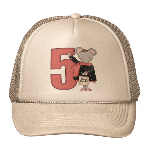 Mouse 5th Birthday Gifts Trucker Hat