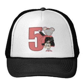 Mouse 5th Birthday Gifts Mesh Hat