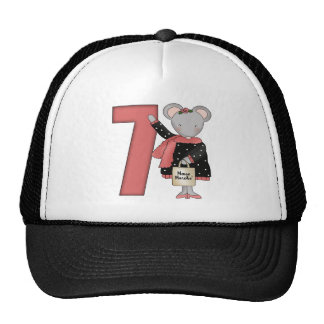 Mouse 7th Birthday Gifts Cap